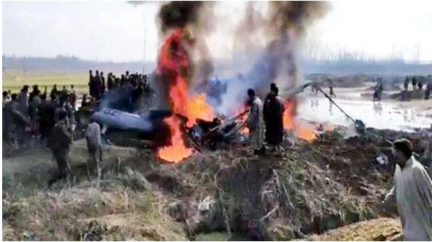 भारतीय वायुसेनाको लडाकु बिमान कश्मिरमा दुर्घटनाग्रस्त