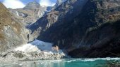 Nepal's lowest altitude glacier lake ,  Kahphuche Lake