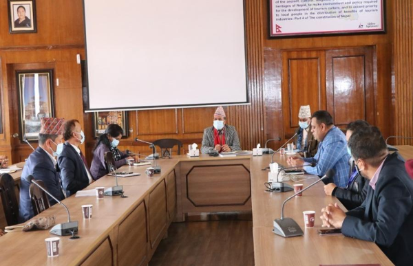 Tourism Minister Bhanubhakta Dhakal directs to work for promotion of domestic tourism