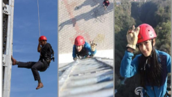 tower climbing for the first time in Nepal