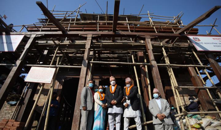 काष्ठमण्डप पुनः निर्माण ८५ प्रतिशत सम्पन्न