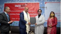 IME Life Insurance Company appoints actress Manisha Koirala as its brand ambassador