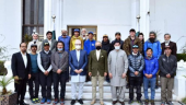 Pakistani president meets Nepali mountaineers expedition team after K2 winter ascent