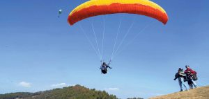 नवलपुरको कावासोतीमा प्यारागलाइडिङ्गको परीक्षण उडान