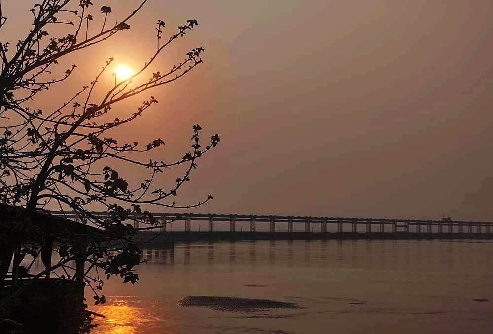 Evening view of Koshi River