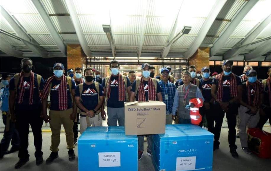 बहराइन राजकुमारको टोली सगरमाथा आरोहण गर्न नेपाल आईपुगे