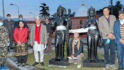 चितवनकाे अयोध्याधाममा राम-सीताकाे मूर्ति स्थापना गरिँदै