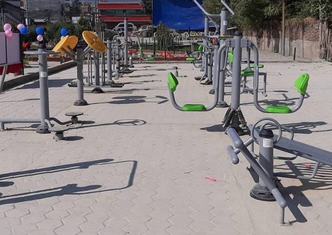 तारकेश्वरमा खुल्ला व्यायामशाला