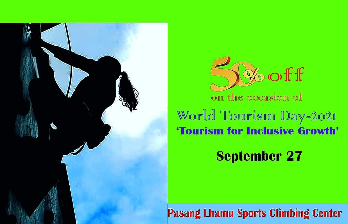 बिश्व पर्यटन दिवसमा पासाङ ल्हामु वाल क्लाइम्बिङ सेन्टरमा ५० प्रतिशत छुट